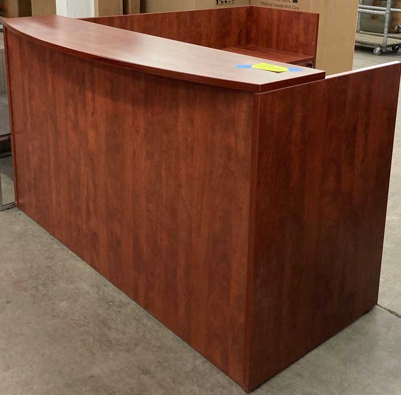 Reception Desk 6X6 Cherry Laminate
