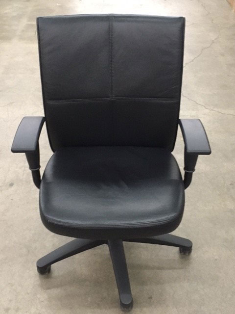 Black Leather low back excecutive chairs