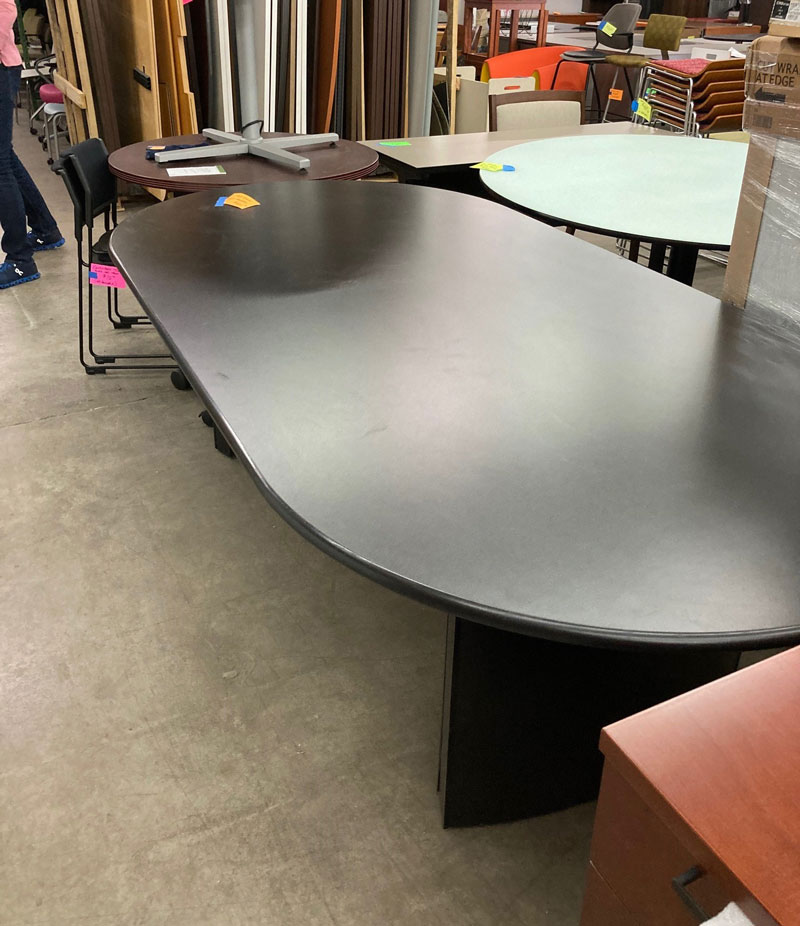 Racetrack Conference Table Black